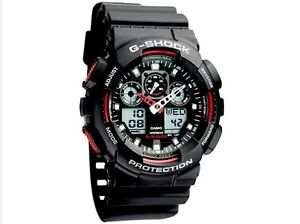 Details about casio g shock ga 100 1a4er mens combi watch new gshock