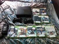 Xbox 360 + FIFA 18 + 2 wireless controllers (plus games)