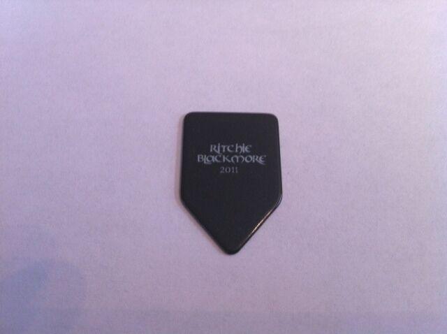 Ritchie Blackmore 2011 Black / White Guitar Pick Deep Purple
