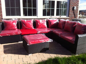 40% off Resin Wicker Patio Sectional, Loungers, Day Bed