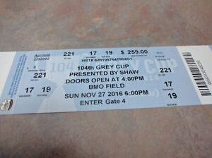 Two Pairs of Grey Cup Tickets Oakville / Halton Region Toronto (GTA) image 1