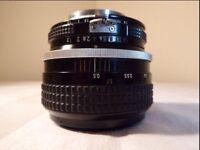 Nikon Nikkor 55mm f1.2 AI lens