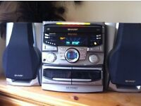 Sharp Stereo with surround sound speakers