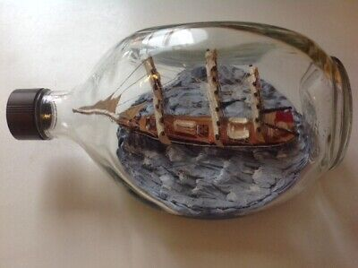 Vintage Haig Whiskey Dimple Ship In Bottle