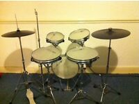 Practice drum kit with mesh heads