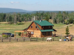 Beautiful Log Home on 138 acres