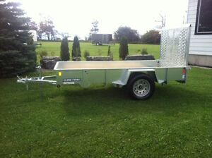 5x10 Open Galvanized Trailer