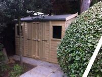 shed - brand new 7x4 £529, Tanalised wood - other styles & sizes available
