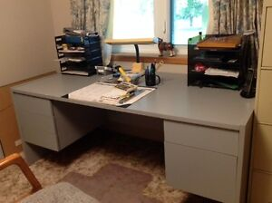 Office Desk and Matching Credenza