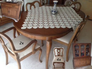 GIBBARD Cherry Dining Suite Table , 6 chairs, Buffet China Cabin