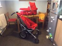 Microlite buggy system with carry cot for newborn