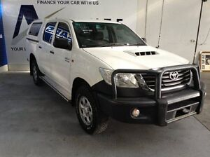 2011 Toyota Hilux KUN26R MY12 SR Double Cab White 5 Speed Manual Utility Bungalow Cairns City Preview
