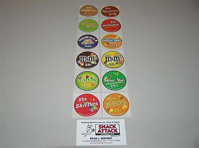 Vendstar 3000 Bulk Candy Vending Machine 12 Candy Label Stickers - New Oem