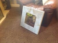 CanPost Modern Silver Velvet Diamond Wall Mirror £25 ea Was £45 ea ONLY HUNG FOR 2HRS THEN TOOK DOWN