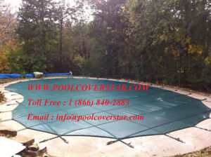 Pool Safety Covers for Final Blowout Sale.  Call us 647 998 3132