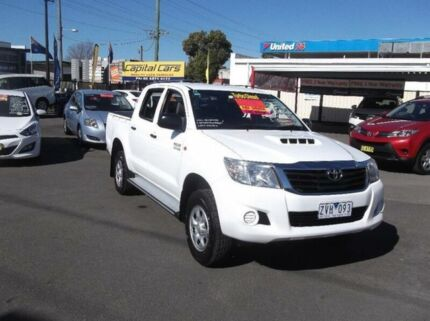 2013 Toyota Hilux KUN26R MY12 SR (4x4) White 4 Speed Automatic Dual Cab Pick-up