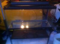 fish tank plus stand and gravel
