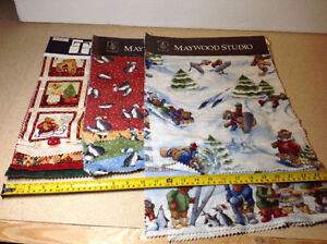 Telio fabric samples for crafts - 20 sampler of mostly Christmas Cambridge Kitchener Area image 2