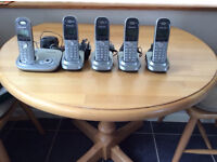 PANASONIC KX-TG7321E ANSWER MACHINE COMPLETE WITH 5 HANDSETS