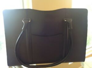 Leather Business Handbag by Geoffrey Beene