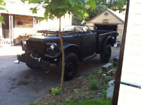 1952 Canadian Military army Dodge M37 trade for harley/ race car