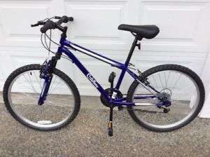 Two matching new youth mountain bikes