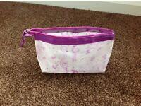 Make-up bag with purple design