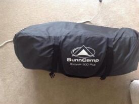 Suncamp rotonde 300 plus awning open to offers