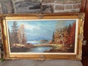 Large Framed Signed Original Oil Painting Peterborough Peterborough Area image 1