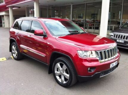 2012 Jeep Grand Cherokee WK MY2013 Overland Red 5 Speed Sports Automatic Wagon