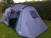 4 man tent Halfords brand. Only used 4 times. All pegs etc there in perfect condition