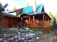 10 acre horse property log home