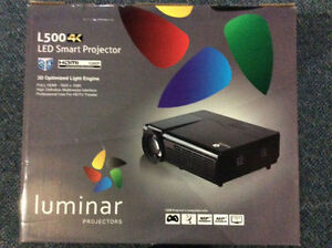 Luminar projector WITH 60 inch screen