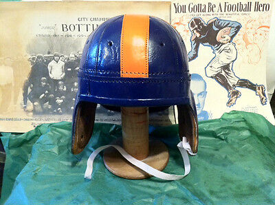 1940 Auburn Leather Football Helmet   Tigers Auburn Tigers Leather Football