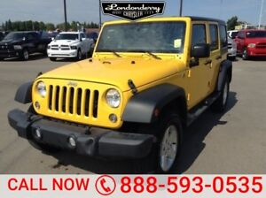 2015 Jeep Wrangler Unlimited 4WD UNLIMITED SPORT Accident Free,