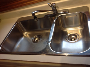 KINDRED Kitchen Sink with Moen Faucet