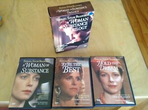 BARBARA TAYLOR BRADFORD'S A WOMAN OF SUBSTANCE TRILOGY. DVD.