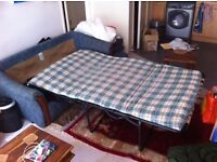 FREE Sofa bed, 2 seater, (173cm x 80cm x 61cm high) with washable covers, blue colour.