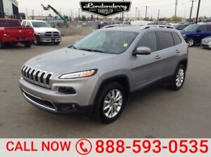 2016 Jeep Cherokee 4WD LIMITED Navigation (GPS),  Leather,  Heat