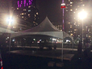 Tent, Chairs and Tables