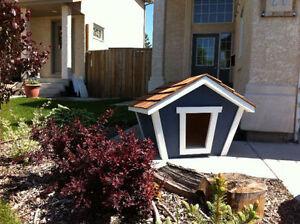 Custom built medium dog house