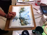 Watercolour workshop in Cobourg at The Painted Tree