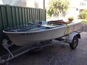 Boat 12ft Savage Fibreglass boat and trailer Footscray Maribyrnong Area Preview