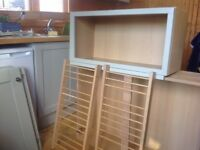 3 Howdens kitchen wall units in Greenwich shaker grey for sale plus cornicing