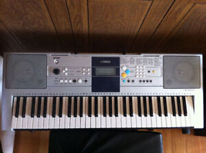Yamaha Keyboard with Stand, Stool and Sustain Pedal