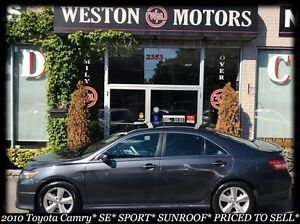 2010 Toyota Camry SE* SPORT* LEATHER* SUNROOF* SPORT WHEELS* MIC