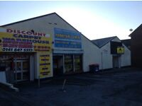 Retail/class 3 hot food unit for rent with private parking
