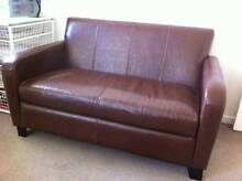 Leather Couch  As New Merrimac Gold Coast City Preview