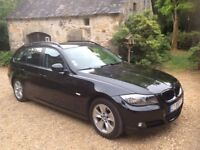 left hand drive BMW 320D Touring. French registered.