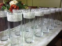 12 Centres de tables cylindriques avec BLING BLING!!!!